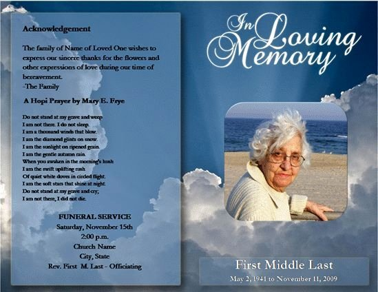 Memorial Cards Template Free New Free Funeral Program Template Microsoft Word