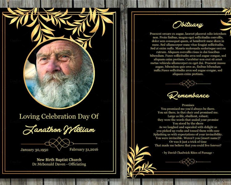 Memorial Cards Template Lovely 12 Printable Funeral Card Templates Free Word Pdf Psd