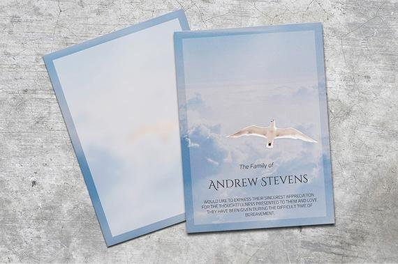 Memorial Cards Template Luxury Thank You Card Funeral Template Editable with Ms Word