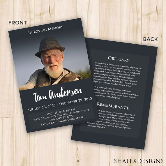 Memorial Cards Template New Our Favorite Actually Free Funeral Program Templates