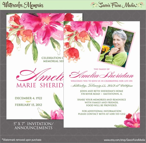 Memorial Service Announcement Template Best Of Sample Funeral Invitation Template 11 Documents In Word