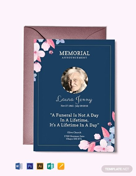 Memorial Service Announcement Template Fresh Free Memorial Service Announcement Invitation Template