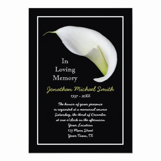 Memorial Service Announcement Template Fresh Memorial Service Invitation Announcement Template