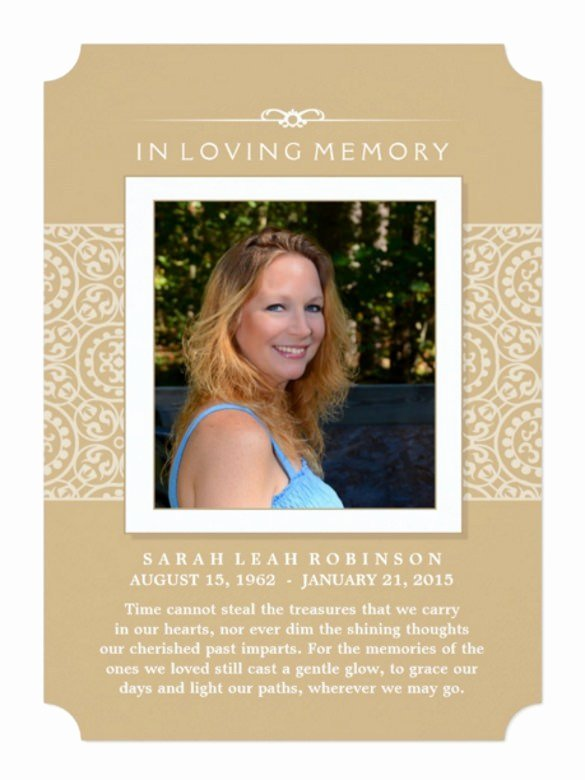Memorial Service Announcement Template Luxury Memorial Invitation Cards