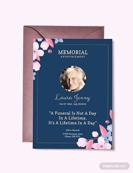 Memorial Service Announcement Template Unique Funeral Service Announcement Template – Memorial Service