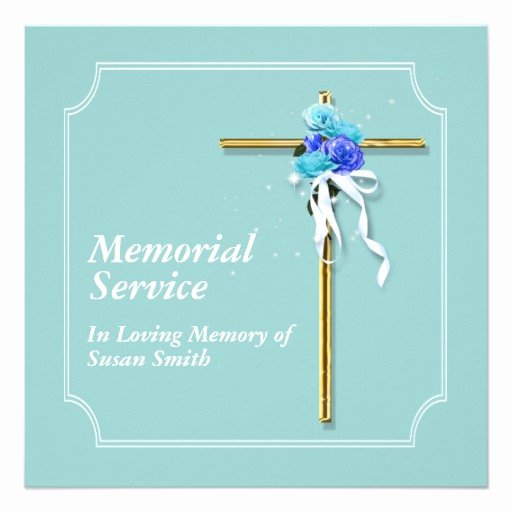 Memorial Service Invitations Templates Awesome Funeral Service Invitation Wording