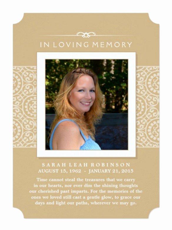 Memorial Service Invitations Templates Awesome Memorial Invitation Cards