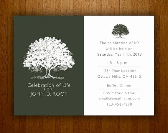 Memorial Service Invitations Templates Beautiful Memorial Notice Bespoke Prints