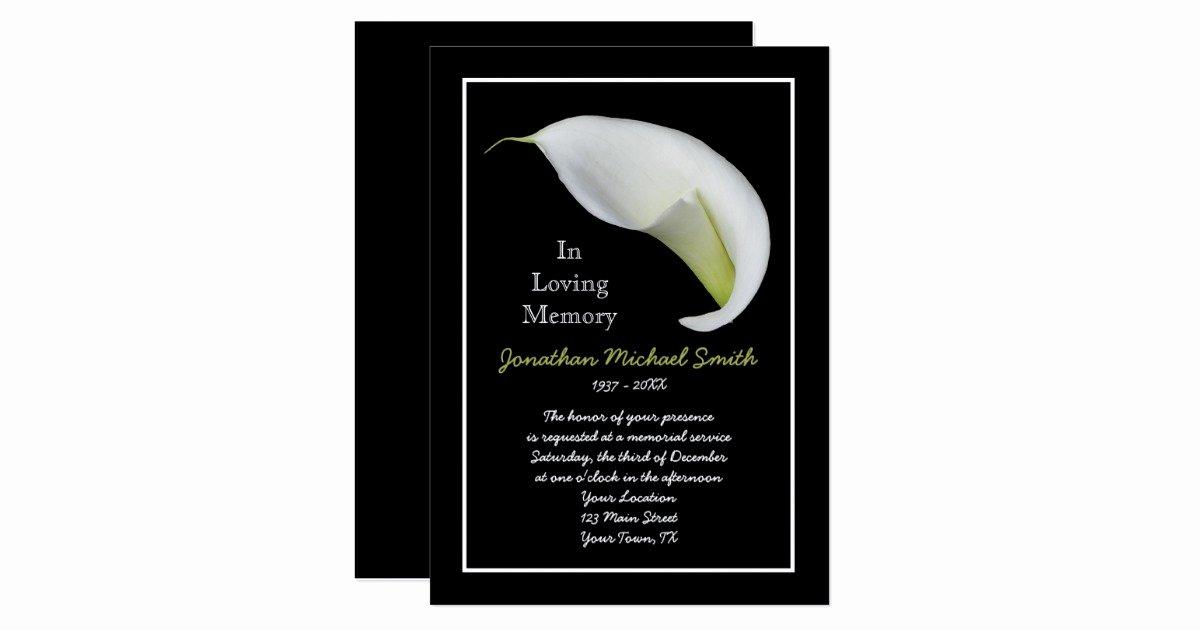 Memorial Service Invitations Templates Elegant Memorial Service Invitation Announcement Template