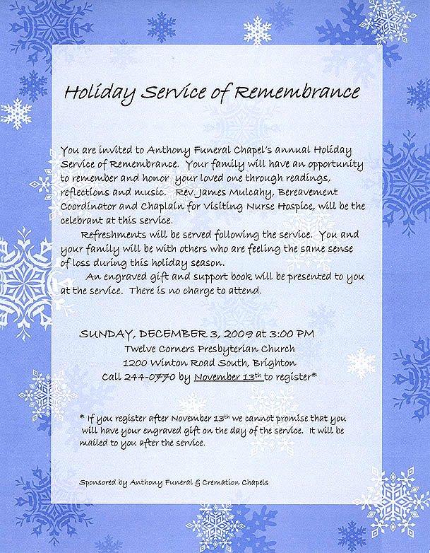 Memorial Service Invitations Templates Elegant Memorial Service Invitations