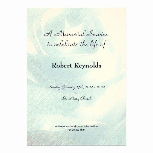 Memorial Service Invitations Templates Elegant Personalized In Memoriam Invitations
