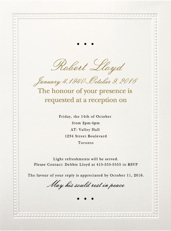 Memorial Service Invitations Templates Inspirational 39 Best Funeral Reception Invitations
