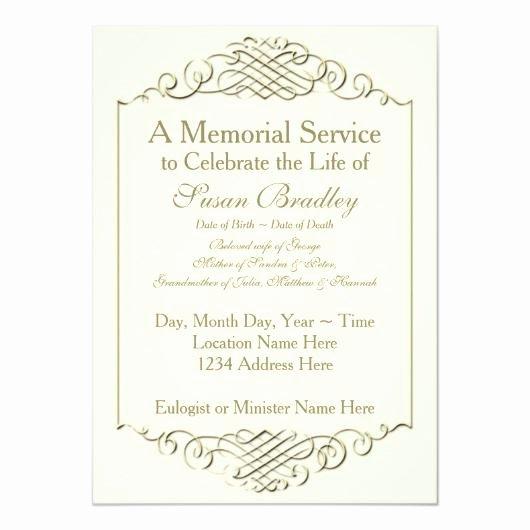 Memorial Service Invitations Templates New Rainbow 2 – Funeral Memorial Service Announcement