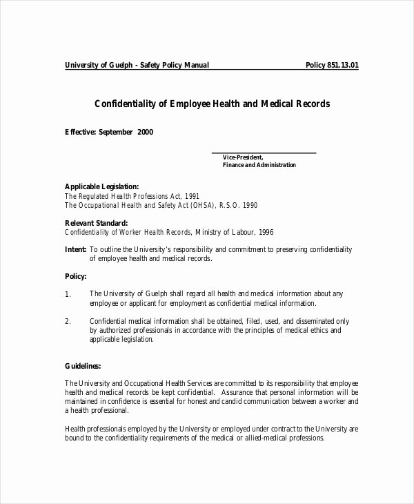 Mental Health Confidentiality Agreement Template Awesome Patient Confidentiality Agreement