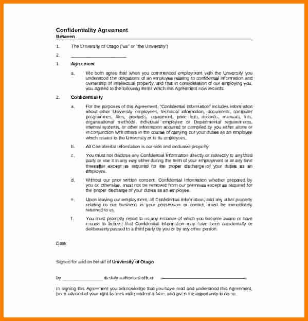 Mental Health Confidentiality Agreement Template Elegant Confidential Document Statement Example