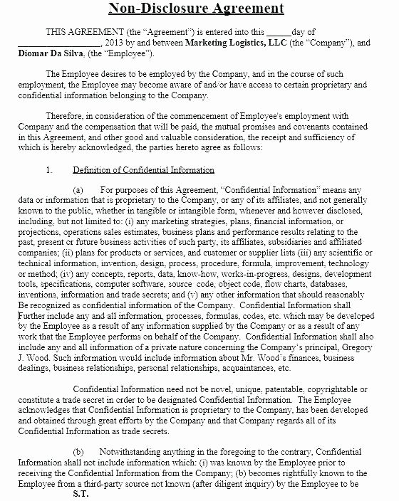 Mental Health Confidentiality Agreement Template Fresh Third Party Confidentiality Agreement Template