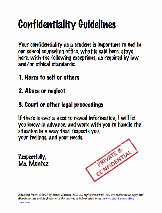 Mental Health Confidentiality Agreement Template Unique Pin by Kiah Lewis On Counseling & Education