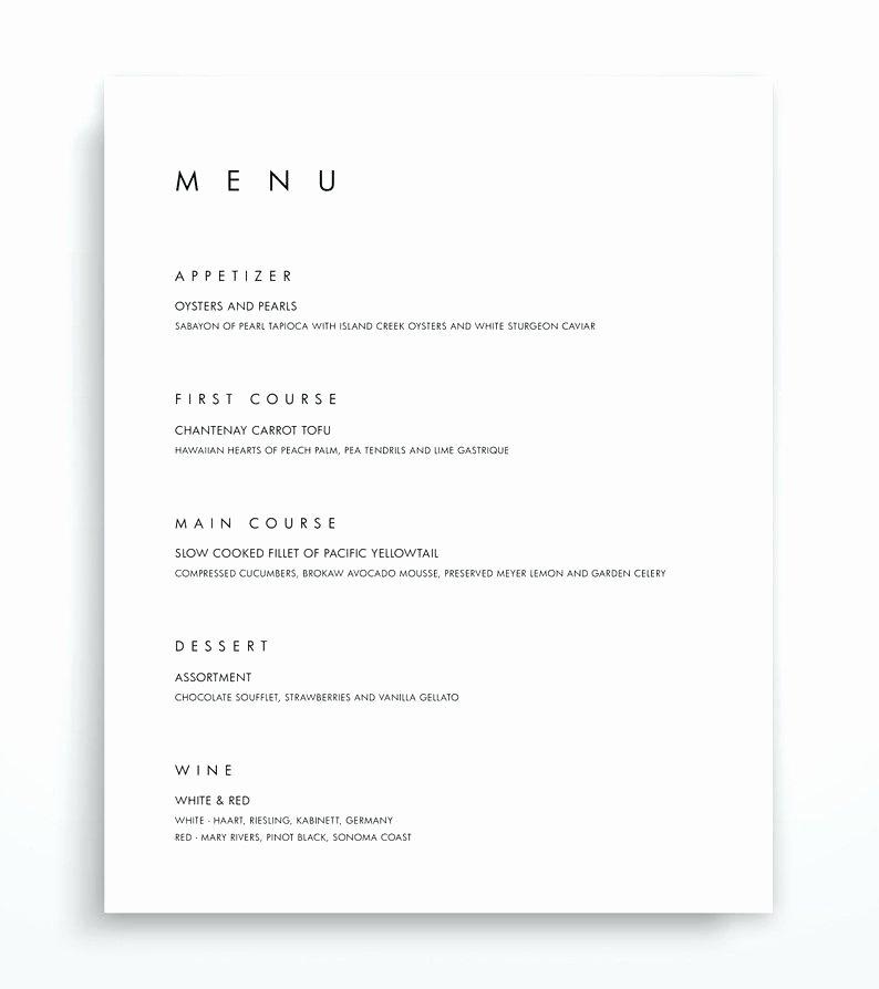 Menu Template Google Docs New Food Menu Template Adobe Templates for Restaurants Word
