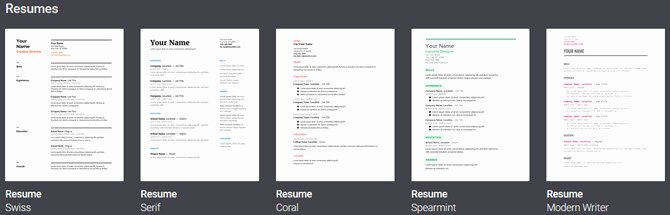 Menu Template Google Docs Unique 6 Google Docs Resume Templates for All Styles and Preferences