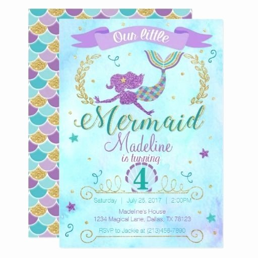 Mermaid Birthday Invitation Templates New Contact List Excel Template
