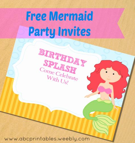 Mermaid Invitation Template Free Awesome Free Printable Little Mermaid Party Invitations