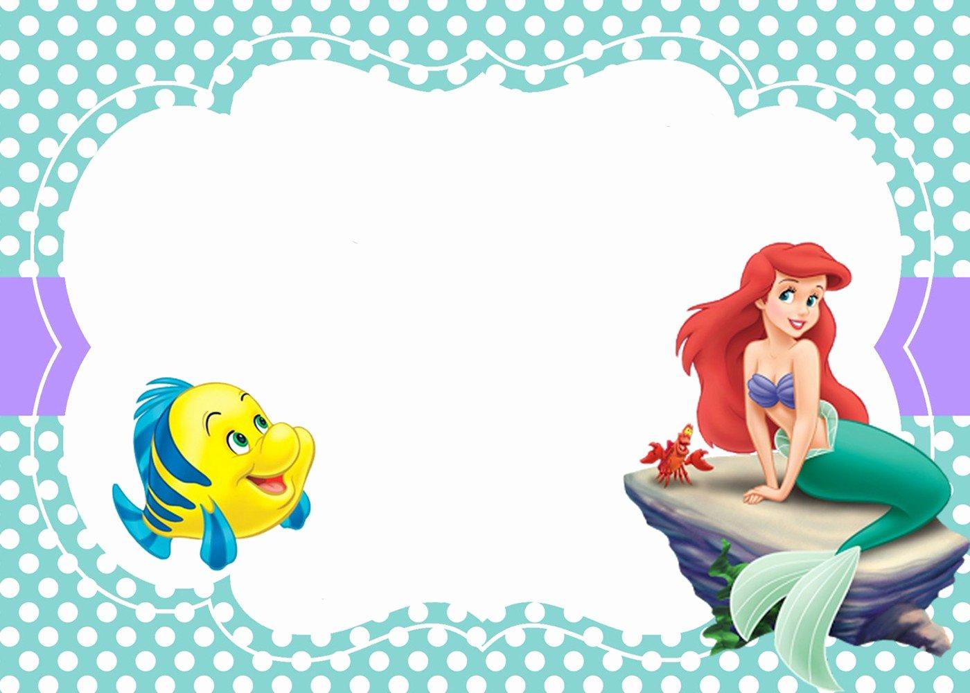 Mermaid Invitation Template Free Beautiful Little Mermaid Free Printable Invitation Templates