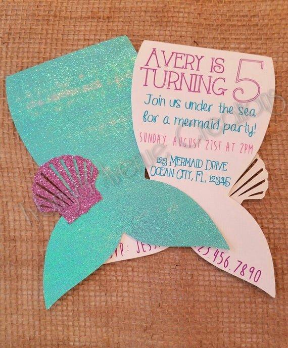 Mermaid Invitation Template Free Best Of 12 Mermaid Invitations Mermaid Party Invitations Nautical