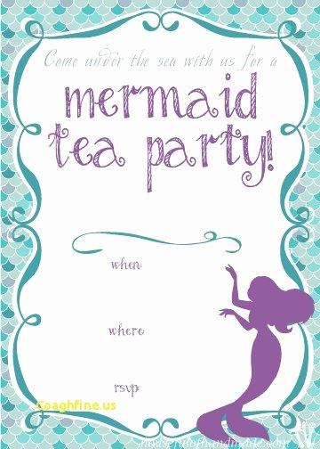 Mermaid Invitation Template Free Fresh Mermaid Invitation Template Negocioblog