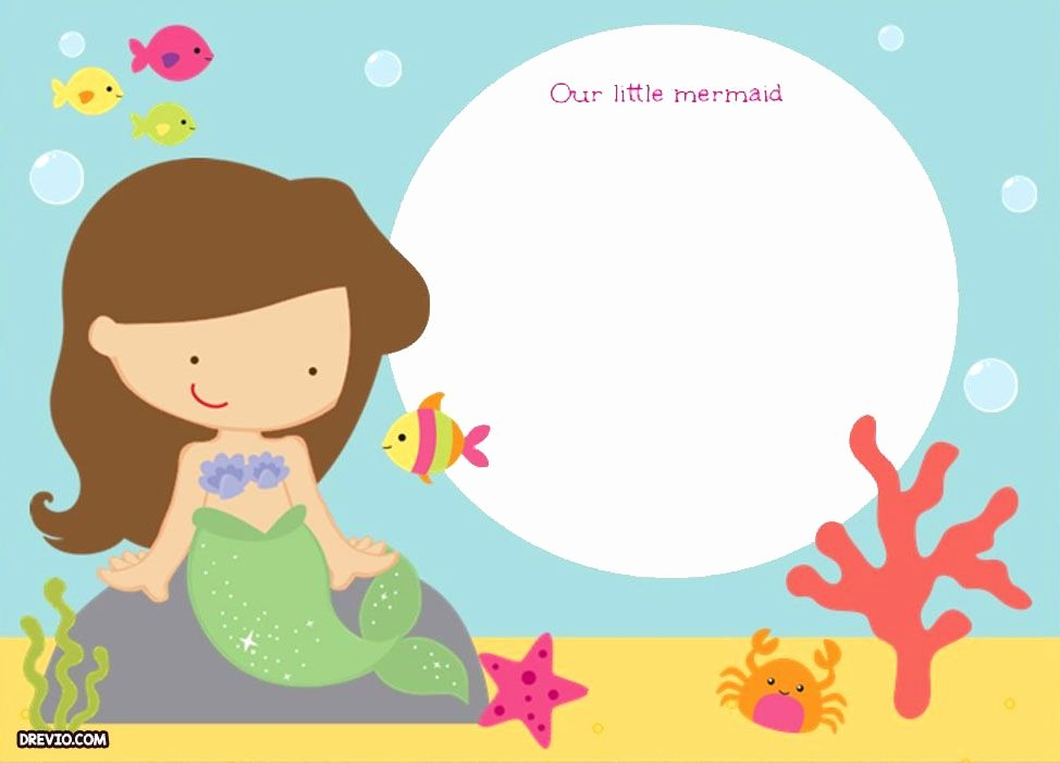 Mermaid Invitation Template Free Fresh Updated Free Printable Ariel the Little Mermaid