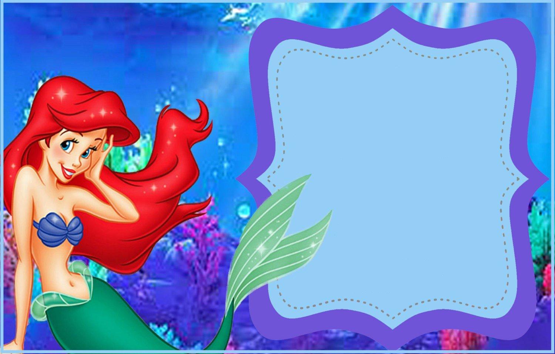 Mermaid Invitation Template Free New Little Mermaid Free Printable Invitation Templates