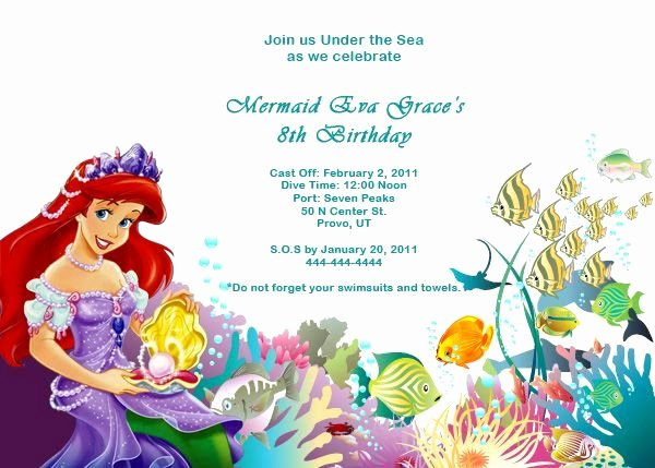 Mermaid Invitation Template Fresh Contact List Excel Template