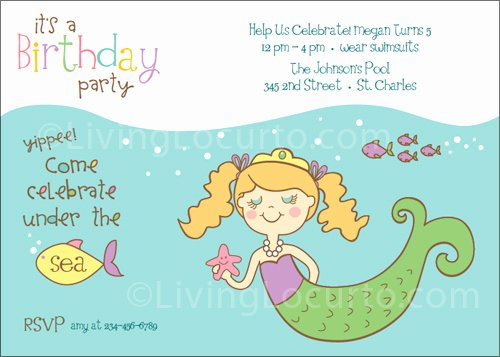 Mermaid Invitation Template Fresh Mermaid Birthday Party Printables
