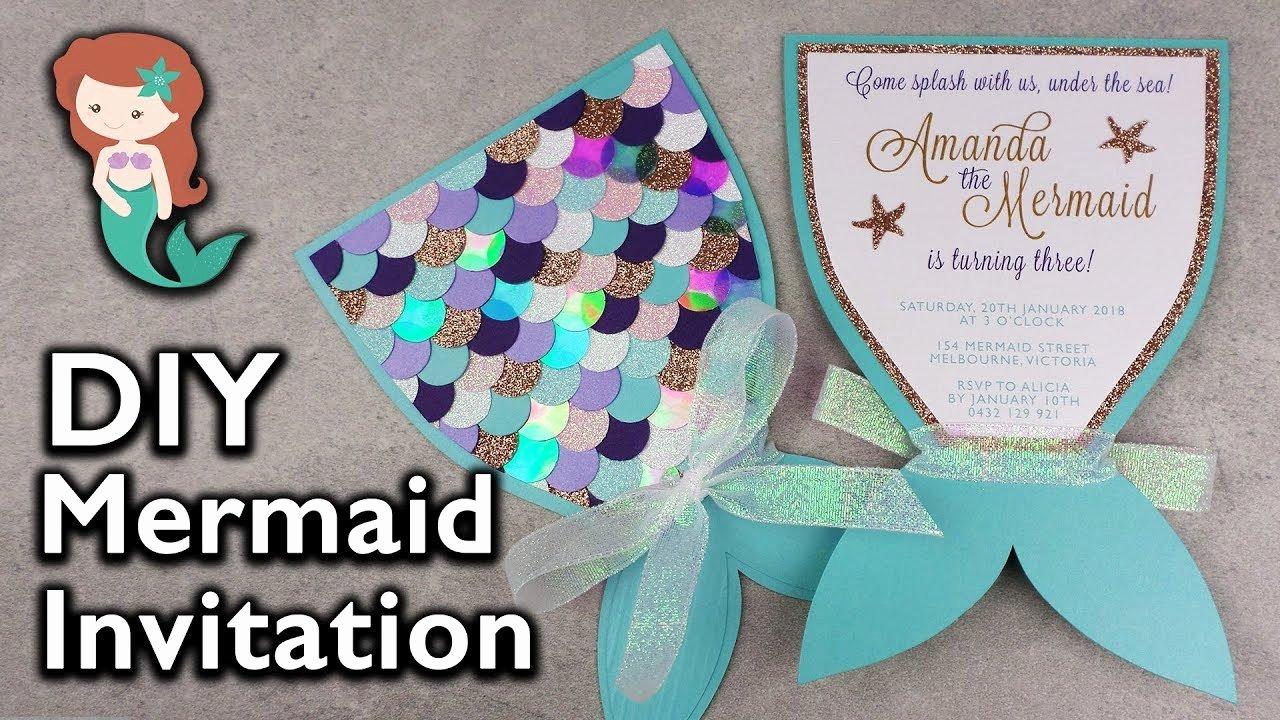 Mermaid Invitation Template Lovely Amazing Diy Mermaid Tail Invitation