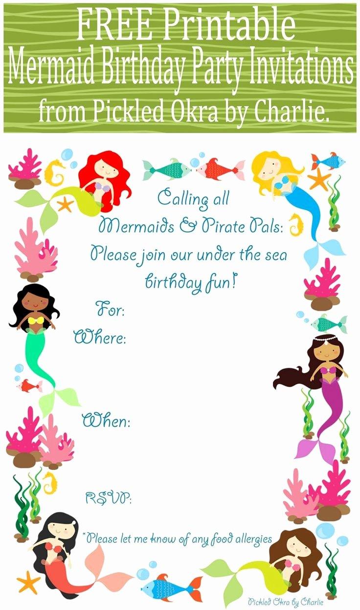 Mermaid Invitation Template New Best 25 Mermaid Party Invitations Ideas On Pinterest