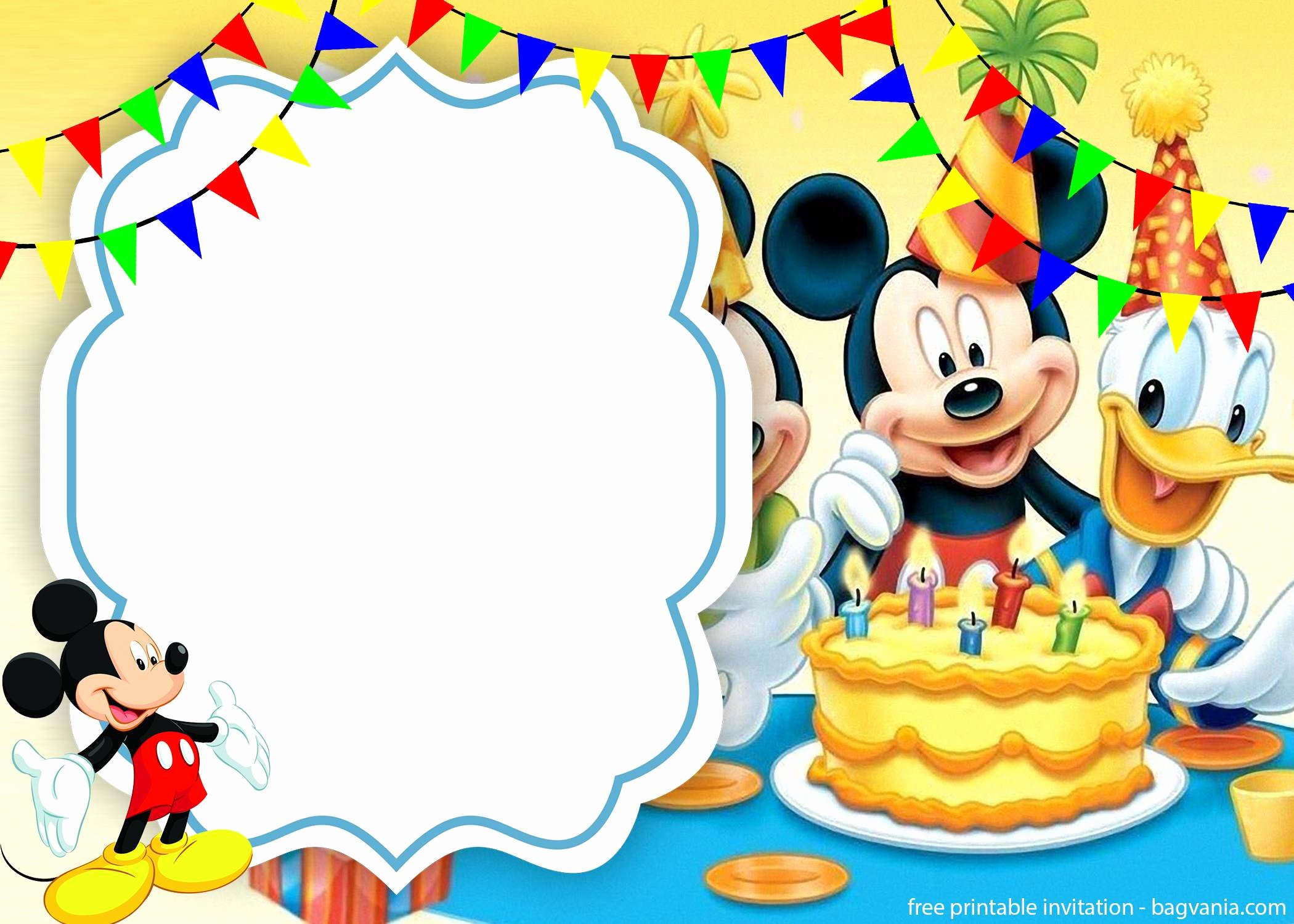 Mickey Mouse Cake Template Free Elegant Free Cute Mickey Mouse Cake Invitation Template – Free