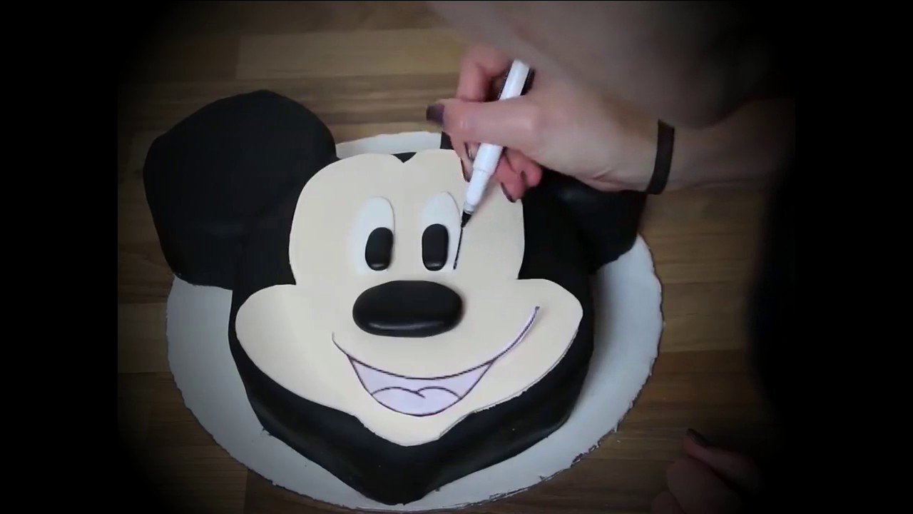 Mickey Mouse Cake Template Free Elegant Mickey Mouse Cake topper Tutorial