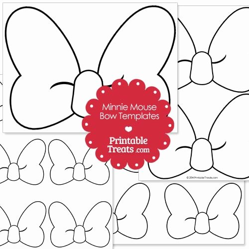 Mickey Mouse Cake Template Free Lovely Printable Minnie Mouse Bow Template From Printabletreats