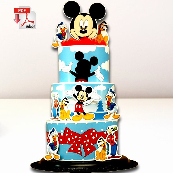 Mickey Mouse Cake Template Free Luxury Mickey Mouse Diaper Cake Diaper Cake Templates