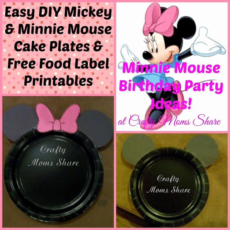 Mickey Mouse Cake Template Free New Crafty Moms Diy Easy Minnie Mouse and Mickey Mouse
