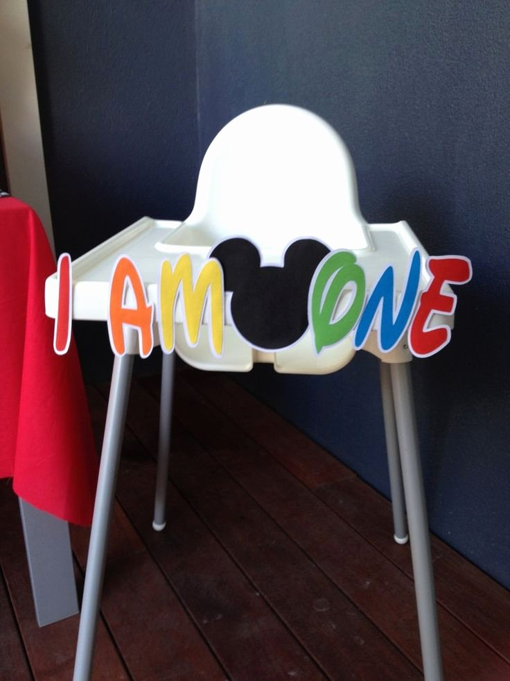 Mickey Mouse Cake Template Free Unique How to Make A Mickey Mouse High Chair Banner with Free