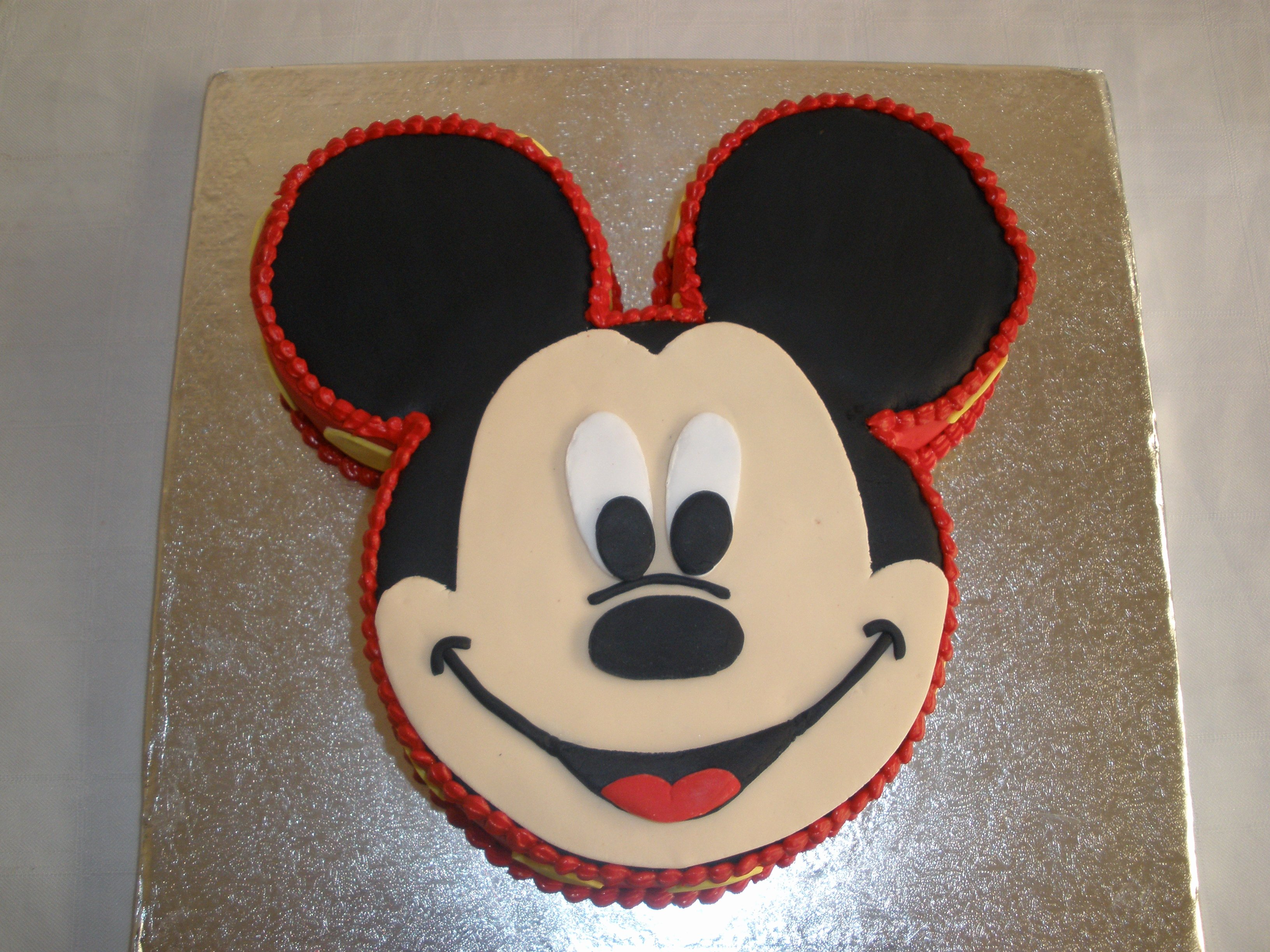 Mickey Mouse Cake Template Free Unique Mickey Mouse