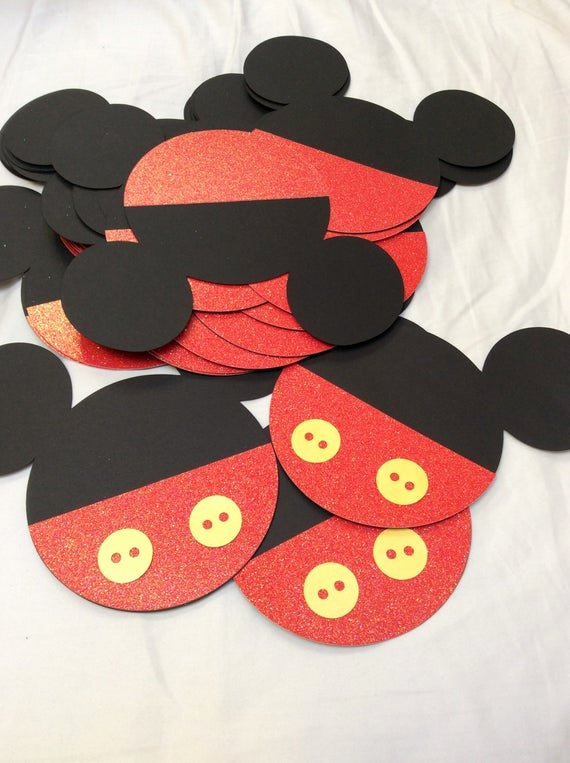 Mickey Mouse Cut Out Ears Best Of Items Similar to Mickey Mouse Ears Die Cut Pocket
