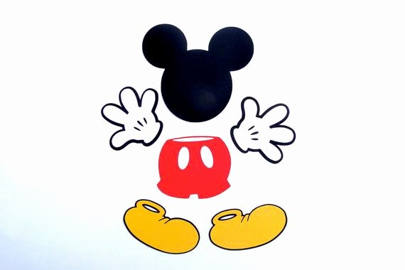 "Mickey Mouse Cut Out Ears New 4"" Mickey Mouse Head Ears Die Cut Disney S Mickey Mouse"