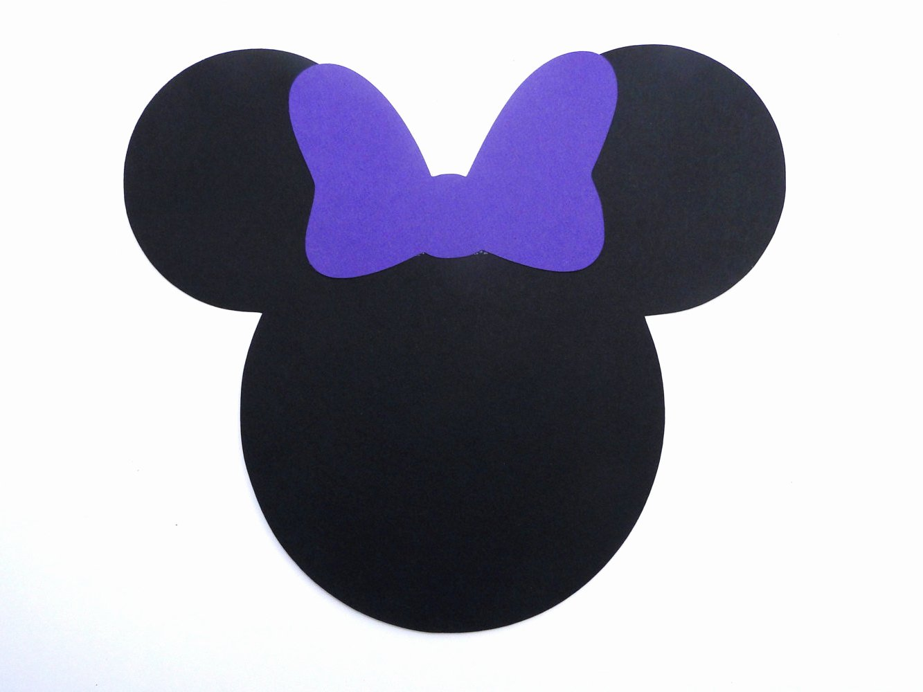 Mickey Mouse Cut Out Ears Unique Minnie Mouse Head with Bow Die Cut Any Color Bow and Ears