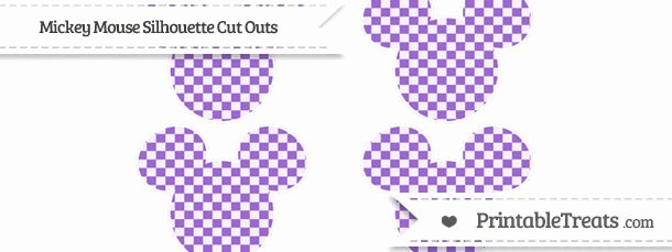 Mickey Mouse Cut Out Printable Beautiful Amethyst Checker Pattern Small Mickey Mouse Silhouette Cut