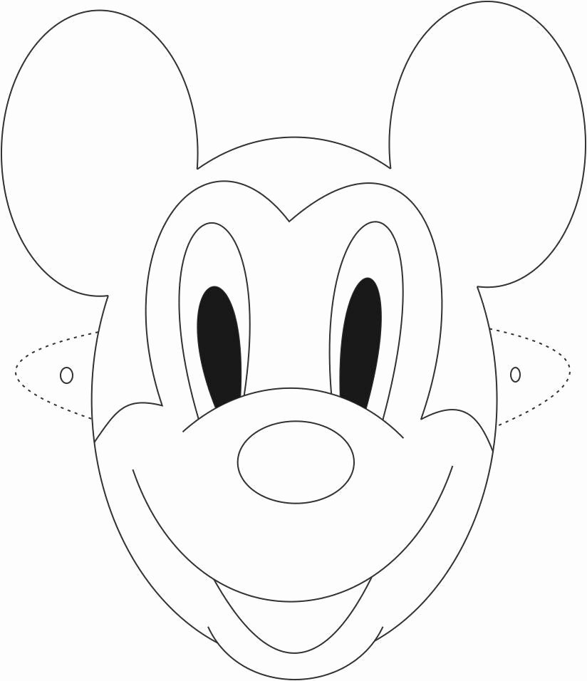 Mickey Mouse Cut Out Printable Best Of Mask Printable
