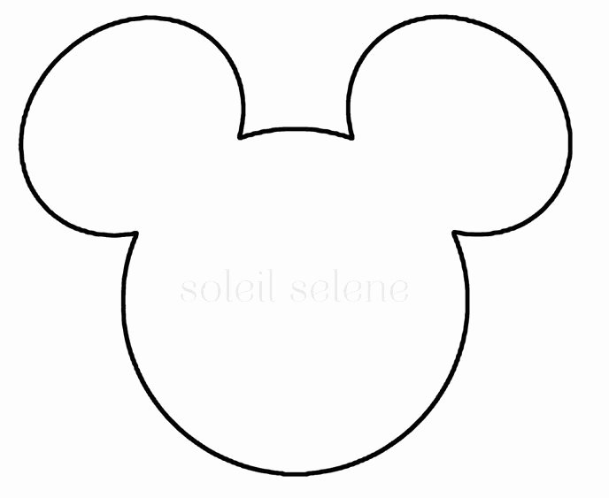 Mickey Mouse Cut Out Printable Elegant Mickey Silhouette