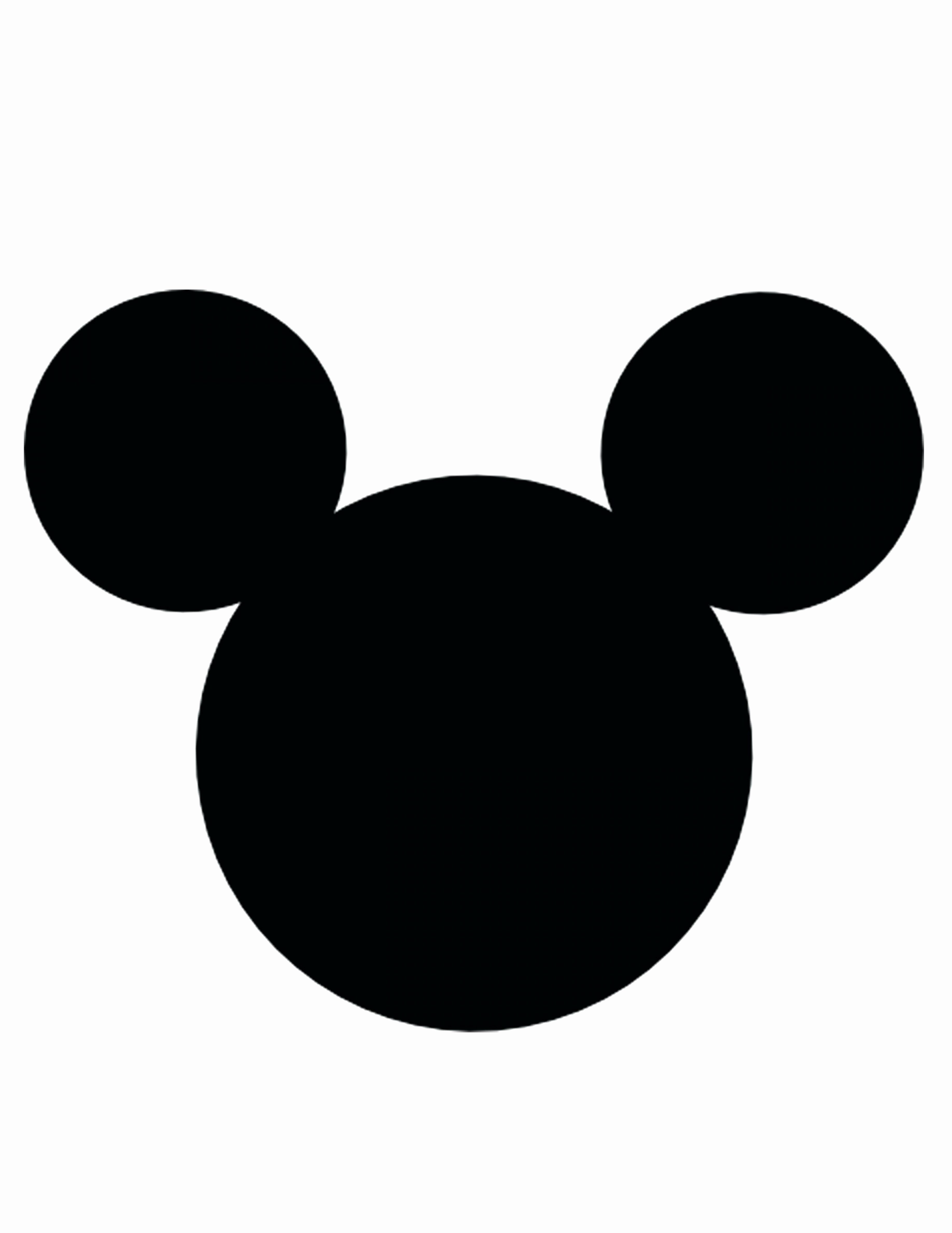 Mickey Mouse Cut Out Printable Fresh Mickey Mouse Face Template Printable Cut Out top Vector
