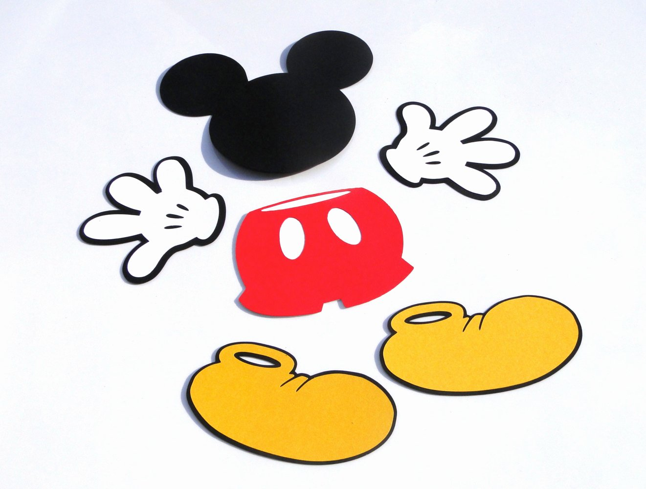 Mickey Mouse Cut Out Printable Fresh Mickey Mouse Shoe Die Cut Disney S Mickey Mouse Cut Out