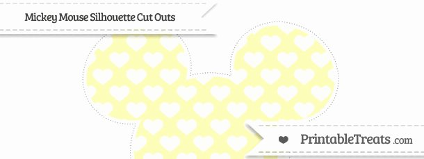Mickey Mouse Cut Out Printable Inspirational Pastel Light Yellow Heart Pattern Extra Mickey Mouse